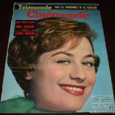 Cine: REVISTA CINÉMONDE - 29 MAYO 1958 - Nº 1242 - EN PORTADA: ANNIE GIRARDOT - EN FRANCÉS. Lote 96109279