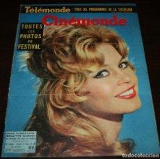 Cine: REVISTA CINÉMONDE - 15 MAYO 1958 - Nº 1240 - EN PORTADA: BRIGITTE BARDOT - EN FRANCÉS. Lote 96110071