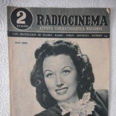 Cine: RADIOCINEMA Nº 193 - 3-4-1954-. PORTADA JINNY SIMMS. CAÑAS Y BARRO. BARBARA STANWYCK. Lote 96173967