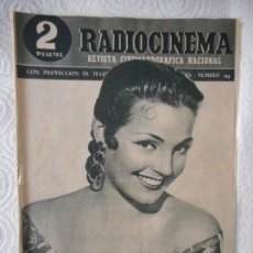 Cine: RADIOCINEMA Nº 195 - 17-4-1954-. PORTADA CARMEN SEVILLA. MALVALOCA. CANNES. SIERRA MALDITA. Lote 96174403