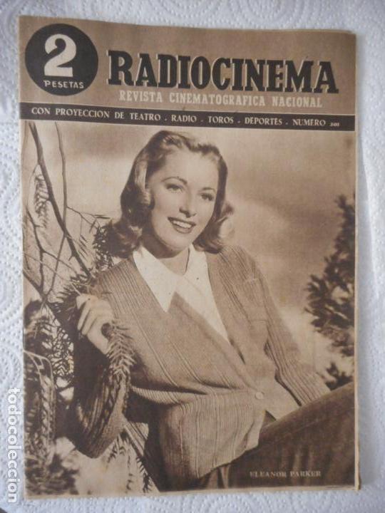 RADIOCINEMA Nº 201 - 29-5-1954-. PORTADA ELEANOR PARKER. ONCE PARES DE BOTAS. JAMES STEWART (Cine - Revistas - Radiocinema)