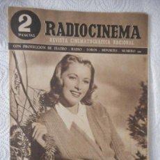 Cine: RADIOCINEMA Nº 201 - 29-5-1954-. PORTADA ELEANOR PARKER. ONCE PARES DE BOTAS. JAMES STEWART. Lote 96175415