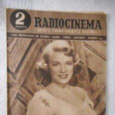 Cine: RADIOCINEMA Nº 203 - 12-6-1954-. PORTADA ROSEMARY CLOONEY. CONTRAPORTADA ROBERT MITCHUM. Lote 96175647