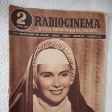 Cine: RADIOCINEMA Nº 207 - 10-7-1954-. PORTADA ANA MARISCAL. CONTRAPORT. JOHN FORSYTHE, EDWARD G. ROBINSON. Lote 96176019