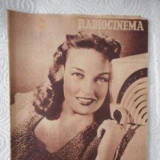 Cine: RADIOCINEMA Nº 211 - 7-8-1954-. PORTADA KARIN BOOTH. CONTRAPORTADA HUME CRONYN. Lote 96176359