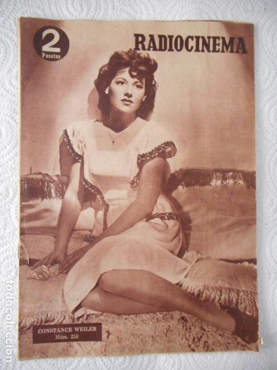 RADIOCINEMA Nº 216 - 11-9-1954-. PORTADA CONSTANCE WEILER. CONTRAPORTADA GILBERT ROLAND (Cine - Revistas - Radiocinema)