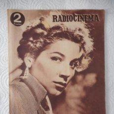 Cine: RADIOCINEMA Nº 218 - 25-9-1954-. PORTADA COSETTA GRECO. CONTRAPORTADA CYD CHARISSE. Lote 96176991