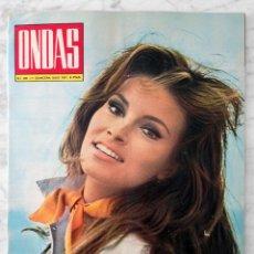 Cine: REVISTA ONDAS - Nº 446 - 1971 - RAQUEL WELCH, SALVADOR DALÍ Y MARUJA GARRIDO, LOS PERSUASORES. Lote 96391215