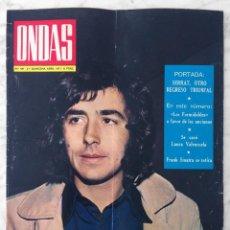 Cine: REVISTA ONDAS - Nº 441 - 1971 JOAN MANUEL SERRAT, B. BARDOT, JENNIFER HOSTEN, BEATLES, VÍCTOR MANUEL. Lote 96391979