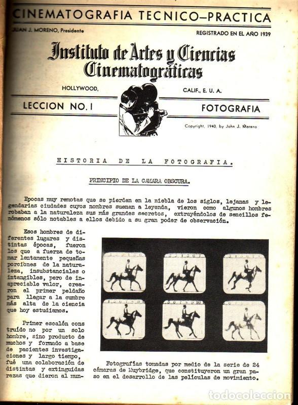 INSTITUTO DE ARTES Y CIENCIAS CINEMATOGRÁFÍCAS. CINEMATROGRAFÍA TÉCNICO-PRÁCTICA. CARPETA CON 26 LEC (Cine - Revistas - Otros)