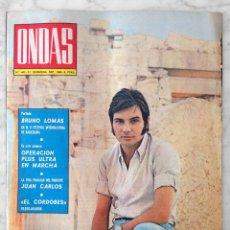 Cine: REVISTA ONDAS - Nº 403 - 1969 - BRUNO LOMAS, MANUEL BENÍTEZ, FRANCISKA, JULIE CHRISTIE, B. BARDOT. Lote 96433451