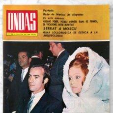 Cine: REVISTA ONDAS - Nº 396 - 1969 - MARISOL, GINA LOLLOBRIGIDA, CANNES, SERRAT, SANDIE SHAW, LOS MITOS. Lote 96434223