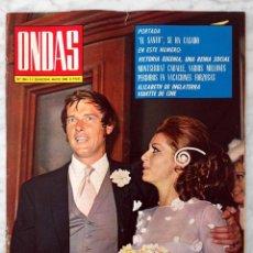 Cine: REVISTA ONDAS - Nº 394 - 1969 - ROGER MOORE, MARÍA DEL CARMEN MARTÍNEZ-BORDIÚ, MONTSERRAT CABALLÉ. Lote 96434671
