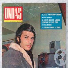 Cine: REVISTA ONDAS - Nº 390 - 1969 - SALVATORE ADAMO, RAPHAEL, GINA LOLLOBRIGIDA, ROMY SCHNEIDER, MASSIEL. Lote 96435099