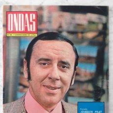Cine: REVISTA ONDAS - Nº 438 - 1971 - JOAQUÍN PRAT, ARTURO FERNÁNDEZ, AGUAVIVA, JULIO RAMOS, G. BRASSENS. Lote 96455099