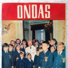 Cine: REVISTA ONDAS - Nº 308 - 1965 - FRANCO, OPERACIÓN PLUS ULTRA, AUDREY HEPBURN, LOS BRINCOS. Lote 96455815