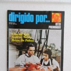 Cine: REVISTA DE CINE DIRIGIDO POR Nº 40 ENERO 1977. OTTO PREMINGER.. Lote 96569999