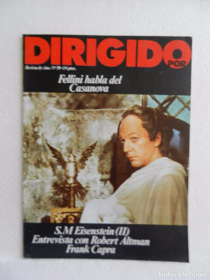 REVISTA DE CINE DIRIGIDO POR Nº 59 NOVIEMBRE 1978. ENTREVISTA A ROBERT ALTMAN. (Cine - Revistas - Cine Mundial)