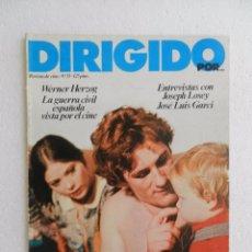 Cine: REVISTA DE CINE DIRIGIDO POR Nº 55 JUNIO 1978. LA GUERRA CIVIL ESPAÑOLA VISTA POR EL CINE. . Lote 96573355