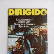 Cine: REVISTA DE CINE DIRIGIDO POR Nº 58 OCTUBRE 1978. ENTREVISTA CON BIGAS LUNA.. Lote 96575147