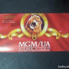 Cine: PUBLICIDAD VHS FOLLETO TRIPTICO DESPLEGABLE VIDEO CLUB MGM/UA METRO MGM HOME VIDEO GOLDWYN MAYER . Lote 96757531