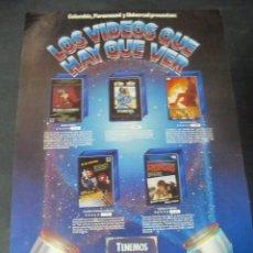 Cine: PUBLICIDAD VHS CIC COLUMBIA VIDEO CLUB STAR TREK HITCHCOCK GRIZZLY RUNAWAY CALLES DE FUEGO . Lote 117902634