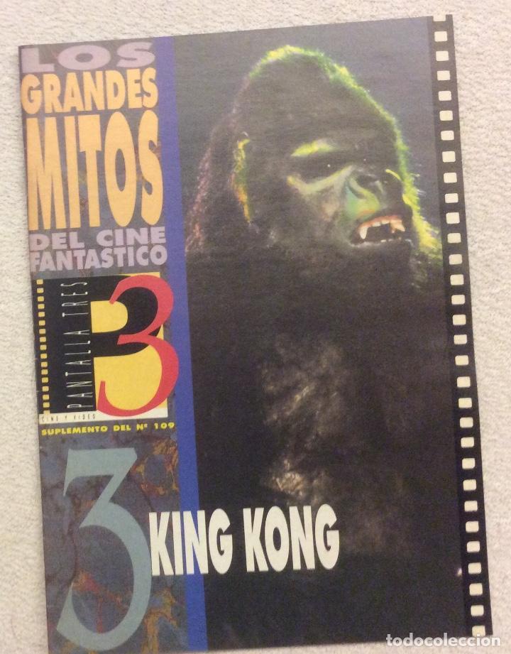 LOS GRANDES MITOS DEL CINE FANTASTICO. N- 3. KING KONG (Cine - Revistas - Otros)