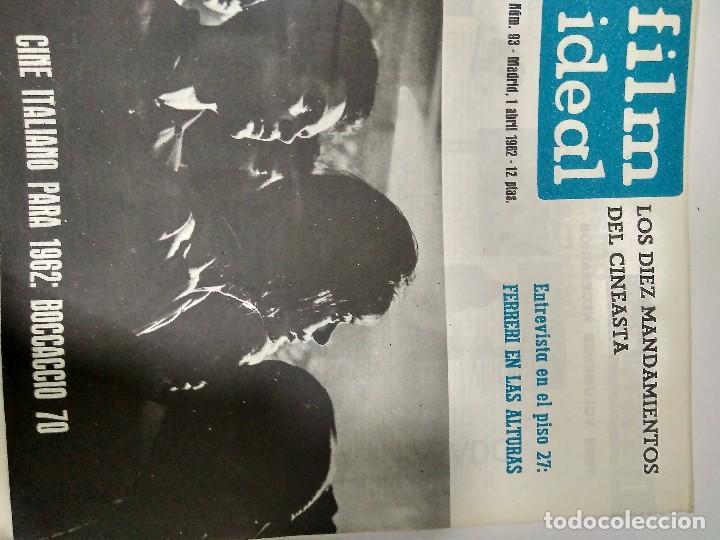 Cine: 24 REVISTAS FILM IDEAL, año 1962 COMPLETO desde nro 87 al 110 - Foto 6 - 97080731
