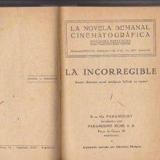 Cine: LA INCORREGIBLE. EDICIONES BISTAGNE. 69 PÁGINAS CON FOTOGRAFÍAS DE LA PELÍCULA. ENCUADERNADA SIN POR. Lote 97295107