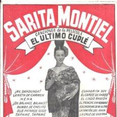 Cine: XX91 EL ULTIMO CUPLE SARA MONTIEL LIBRITO CANCIONERO ESPAÑOL EDICIONES BISTAGNE. Lote 97308575