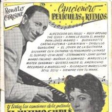 Cine: XX95 EL ULTIMO CUPLE SARA MONTIEL LIBRITO CANCIONERO ESPAÑOL EDITORIAL BISTAGNE. Lote 97310091