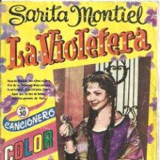Cine: XX96 LA VIOLETERA SARA MONTIEL LIBRITO CANCIONERO ESPAÑOL EDITORIAL ORTEGA. Lote 97310483