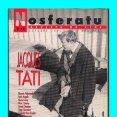 Cine: NOSFERATU Nº 10 - REVISTA DE CINE - OCTUBRE 1992 - JACQUES TATI - MONSIEUR HULOT RARA - EXCELENTE. Lote 97339319