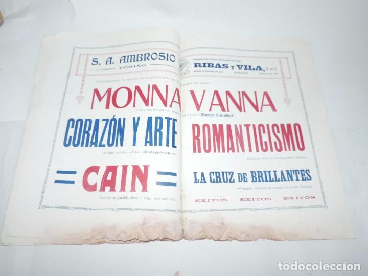Cine: Publicación ARTE Y CINEMATOGRAFIA, Agosto de 1915, Num. 115, muy ilustrada con toda la actualidad te - Foto 8 - 97574067