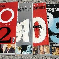Cine: LOTE 5 ANUARIOS FOTOGRAMAS.AÑOS.1998.1999.2000.2001.2002. Lote 85060712