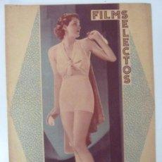 Cine: FILMS SELECTOS. AÑO VII. Nº 293. 1936. . Lote 97735115