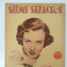Cine: FILMS SELECTOS. AÑO VII. Nº 279. 1936.. Lote 97735435
