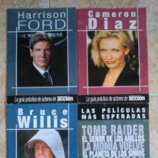 Cine: LOTE 4 SUPLEMENTOS REVISTA CINE Y VÍDEO ACCIÓN: HARRISON FORD, CAMERON DÍAZ, BRUCE WILLIS, PELÍCULAS. Lote 97868387