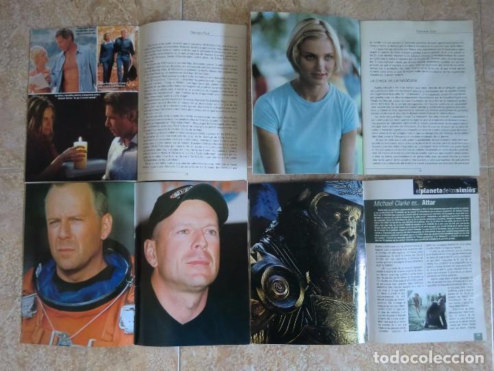 Cine: Lote 4 suplementos revista CINE Y VÍDEO ACCIÓN: Harrison Ford, Cameron Díaz, Bruce Willis, Películas - Foto 2 - 97868387