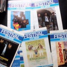 Cine: FESTIVAL INTERNACIONAL DE SAN SEBASTIAN 1987. LOTE DE 8 REVISTAS OFICIALES+ 1 DOSSIER DE LA XXXV ED.. Lote 97984107
