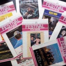 Cine: FESTIVAL INTERNACIONAL DE SAN SEBASTIAN 1986. LOTE DE 10 REVISTAS OFICIALES DE LA XXXIV EDICIÓN. Lote 97984435