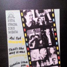 Cine: SAN SEBASTIAN 36 FESTIVAL DE CINE INTERNACIONAL. REVISTA OFICIAL. 20 PÁGINAS . Lote 98180127