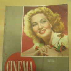 Cine: REVISTA CINEMA Nº 20 FEBRERO 1947 PORTADA ANN SOTHERN. Lote 98185651