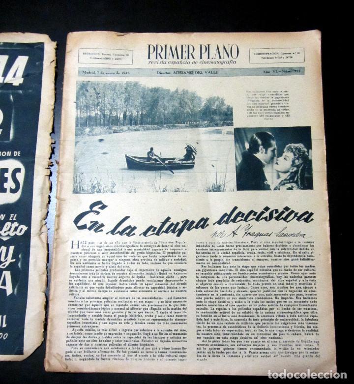 Cine: REVISTA PRIMER PLANO NUMERO ESPECIAL MADRID 1945 NUMERO 221 - Foto 2 - 98720683