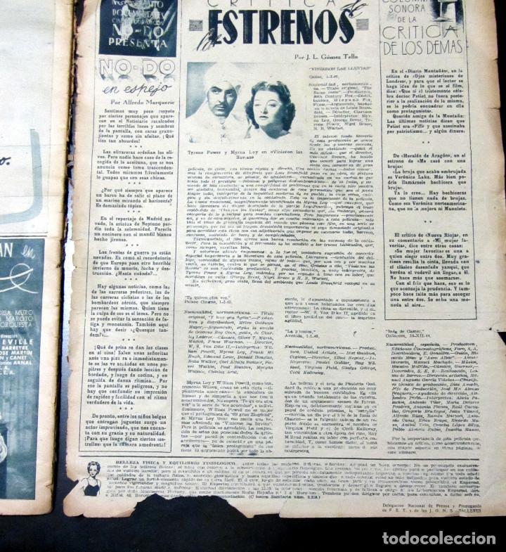 Cine: REVISTA PRIMER PLANO NUMERO ESPECIAL MADRID 1945 NUMERO 221 - Foto 3 - 98720683