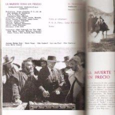 Cine: UNIESPAÑA, CINE ESPAÑOL, LOTE DE 5 LIBROS, AÑOS. 1.963 - 1966.- 1967.- 1968.- 1969 SE VENDEN SUELTOS. Lote 74936641