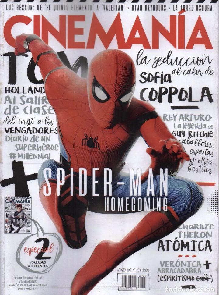 CINEMANIA N. 263 AGOSTO 2017 - EN PORTADA: SPIDERMAN HOMECOMING (NUEVA) (Cine - Revistas - Cinemanía)