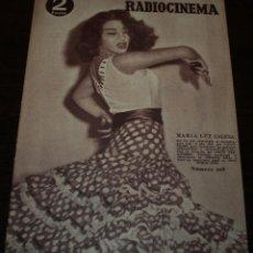 Cine: RADIOCINEMA Nº 219 - 2/10/1954 - EN PORTADA/CONTRAPORTADA: MARIA LUZ GALICIA/VAN HEFLYN. Lote 99854943