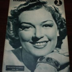 Cine: RADIOCINEMA Nº 228 - 4/12/1954 - EN PORTADA/CONTRAPORTADA: ROSALIND RUSSELL/CORNEL WILDE. Lote 154282564