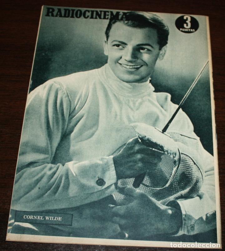 Cine: RADIOCINEMA Nº 228 - 4/12/1954 - EN PORTADA/CONTRAPORTADA: ROSALIND RUSSELL/CORNEL WILDE - Foto 3 - 154282564